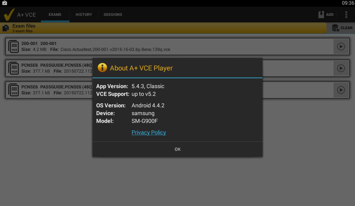 a+ vce 5.4.3