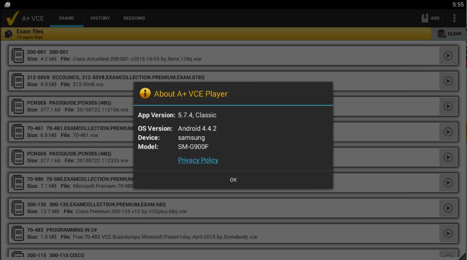 A+ VCE 5.7.4