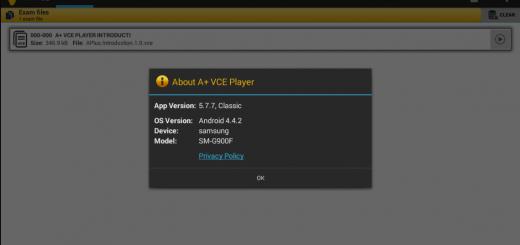 a+ vce 5.7.7